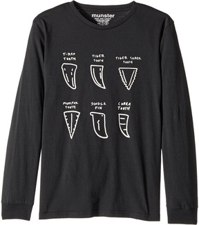 Munster Fang Vs Fin Jersey Long Sleeve Tee Boy's Long Sleeve Pullover