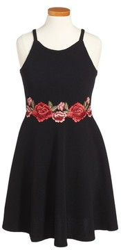 Soprano Girl's Embroidered Skater Dress