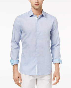 Ryan Seacrest Distinction Men's Slim-Fit Blue Heather Sport Shirt, Created for Macy's