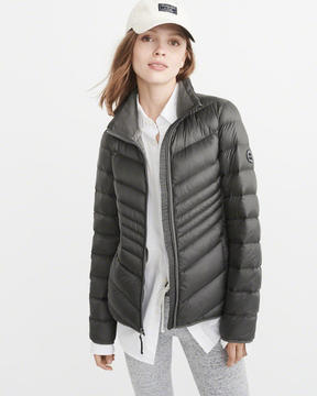 Abercrombie & Fitch Lightweight Down-Filled Packable Puffer