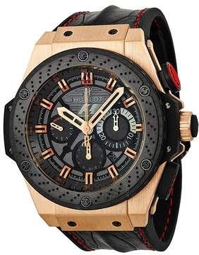 Hublot King Power Automatic Black Dial 18kt Rose Gold Men's Watch