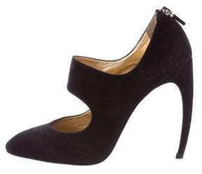 Walter Steiger Suede Semi Pointed-Toe Pumps