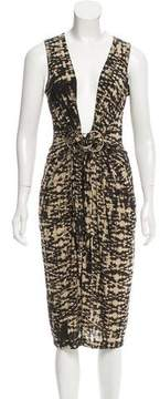 Donna Karan Embellished Abstract Print Dress w/ Tags