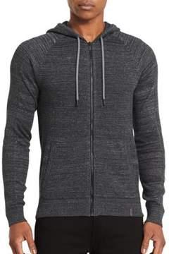Calvin Klein Jeans Hooded Zip-Front Cotton Sweatshirt
