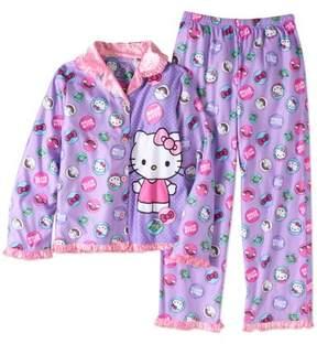 Hello Kitty Two Piece Coat Pajama Set
