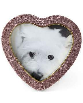 AERIN Bordeaux Shagreen Heart Frame