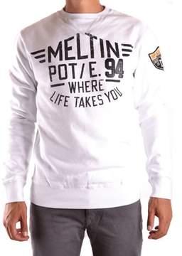 Meltin Pot Men's White Cotton Sweater.