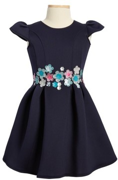 Halabaloo Toddler Girl's Bouquet Scuba Dress