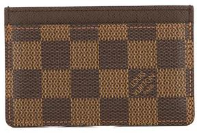 Louis Vuitton Damier Ebene Canvas Porte-Cartes Simple Card Holder - BROWN - STYLE