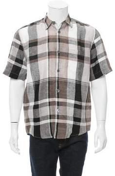 Our Legacy Plaid Linen Shirt