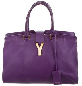 Saint Laurent Cabas Chyc Tote - PURPLE - STYLE