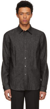 Paul Smith Black Tailored Denim Shirt
