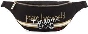 Peace Love World Oversized Belt Bag