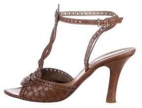 Bottega Veneta Intrecciato Brogue Sandals