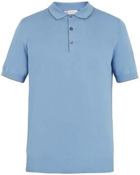 Brunello Cucinelli Half button cotton polo shirt