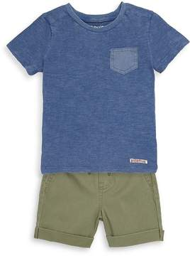 Hudson Little Boy's Two-Piece Clearwater Cotton Top and Shorts Set