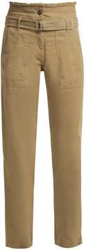 Vanessa Bruno Belted-waist patch-pocket cargo pants