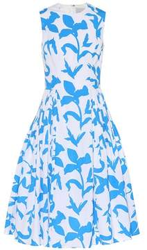 Carolina Herrera Floral-printed cotton-blend dress