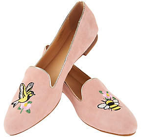 C. Wonder Birds & Bees Suede Loafers - Clarissa