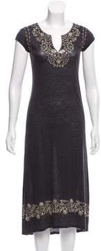 Calypso Embellished Linen Dress