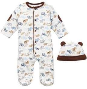 Little Me Newborn Boys 0-9 Months Cute Puppies Footie Set