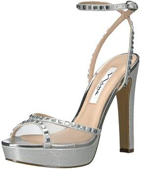 Nina Womens Myrna Open Toe Formal Ankle Strap Sandals.