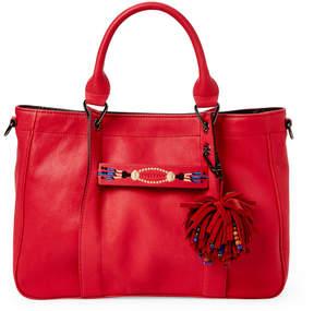 Longchamp Red 3D Massai Medium Leather Tote