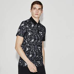 Lacoste Men's Sport Print Technical Jersey Tennis Polo Shirt