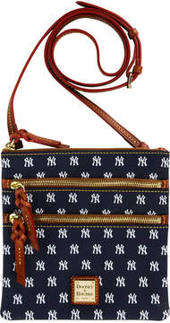 Dooney & Bourke New York Yankees Triple Zip Crossbody Bag - NAVY/WHITE - STYLE