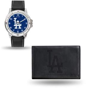 Rico MLB Team Logo Watch and Wallet Combo Gift Set in Black - Dodgers