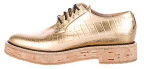 Dries Van Noten Leather Embossed Oxfords