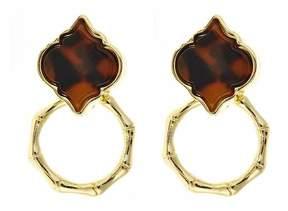 Fornash Tortoise-Bamboo Spade Earrings