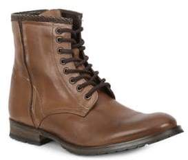 GBX Woven Accent Leather Boots