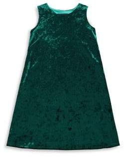 Un Deux Trois Girl's Crushed Velvet Dress