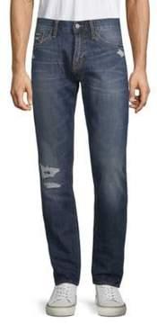 Jean Shop Mick Distressed Cotton Jeans