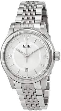 Oris Classic Date Silver Dial Stainless Steel Men's Watch 733-7594-4031MB