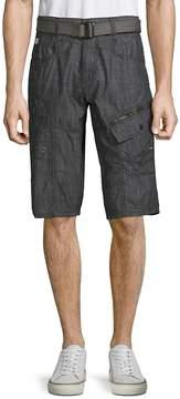 ProjekRaw PROJEK RAW Men's Belted Cotton Cargo Shorts