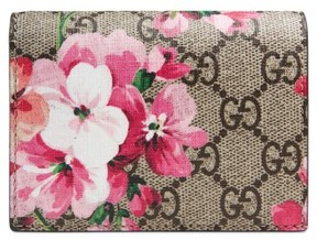 Gucci Women's Gg Blooms Canvas Card Case - Blue - BLUE - STYLE