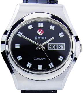 Rado Conway Stainless Steel / Leather Vintage 38mm Mens Watch