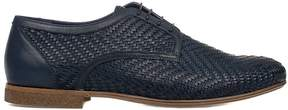 Alberto Guardiani Blue Leather Derby