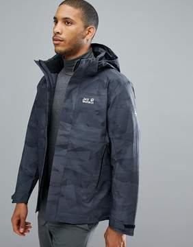 Jack Wolfskin Mountain Edge Camo Jacket in Black