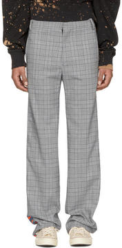 Faith Connexion Grey Kappa Edition Check Trousers