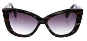 Dita Gradient Butterfly Sunglasses