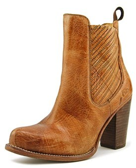Bed Stu Insight Women Round Toe Leather Brown Ankle Boot.