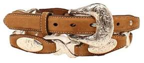 Ariat A1520608-L 1 in. Womens Oval Concho Linked Belt, Tan - Large