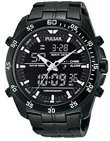 Pulsar Men's Digital & Analog Chronograph BlackWatch