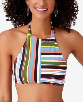 Anne Cole Studio Comic Stripe High-Neck Bikini Top Women's Swimsuit