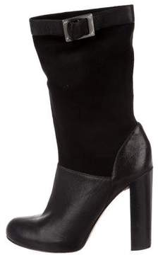 Rachel Zoe Leather Mid-Calf Boots