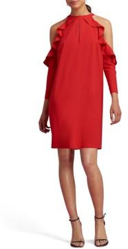 ECI Women's Cold Shoulder Shift Dress