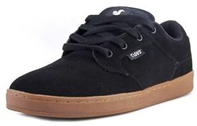 DVS Shoe Company Quentin Men Round Toe Leather Black Skate Shoe.